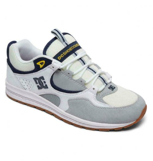 DC SHOES MENS TRAINERS.KALIS LITE SUEDE LEATHER WHITE GYM SKATER SHOES 8S 91 WYY